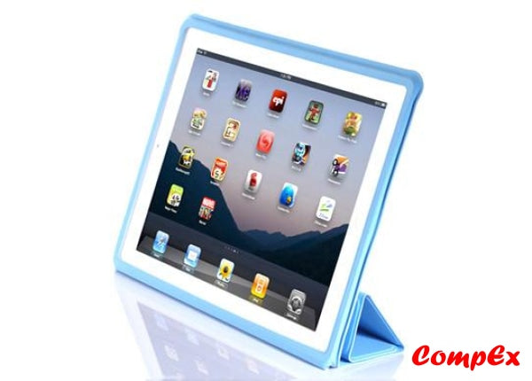 Lafeada Skin Cover - Ultra Slim Case With Smart Function For Ipad 2 Blue Tablet Carry