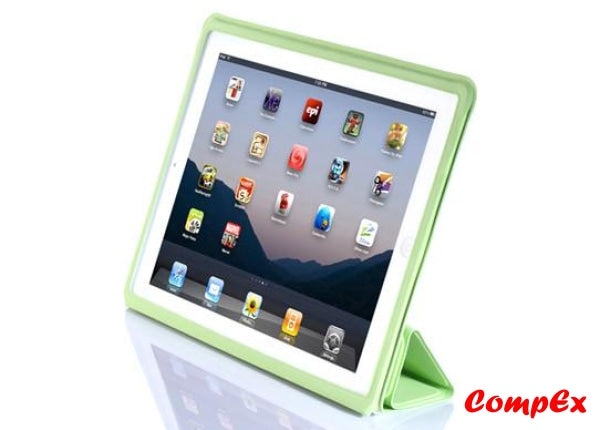 Lafeada Skin Cover - Ultra Slim Case With Smart Function For Ipad 2 Green Tablet Carry