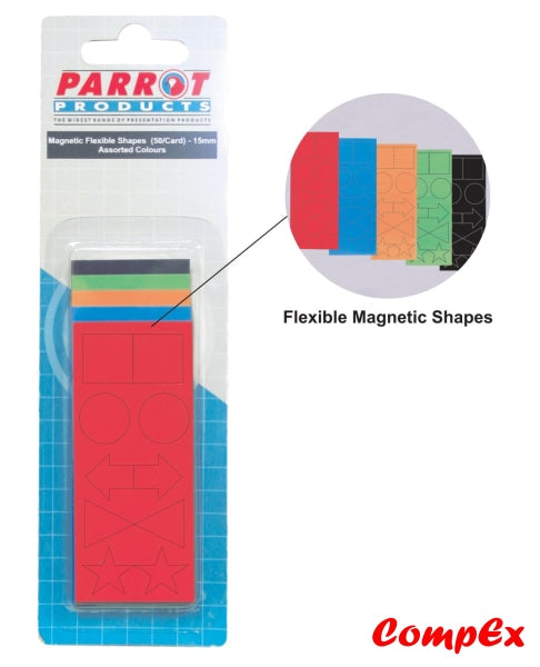Magnetic Flexible Shapes (15Mm - 50 Pack Assorted) Strips