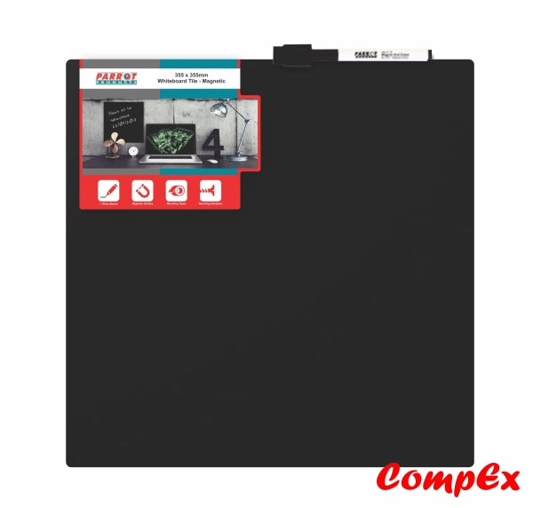 Magnetic Whiteboard Tile (355*355Mm - Black) Whiteboards