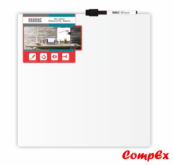 Magnetic Whiteboard Tile (355*355Mm - White) Whiteboards