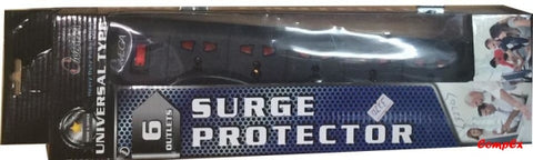 Omega 6 Way Surge Protected Adapter 10Ft Arrest