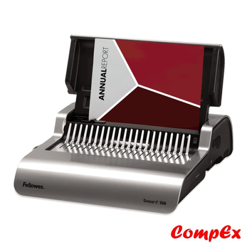 Quasar E 500 Electric Comb Binding Machine W/ Starter Kit