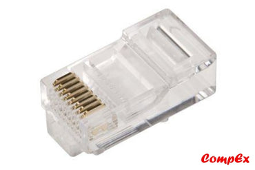 Rj45 Modular Plug Cat5E Network Cable Connector 8P8C