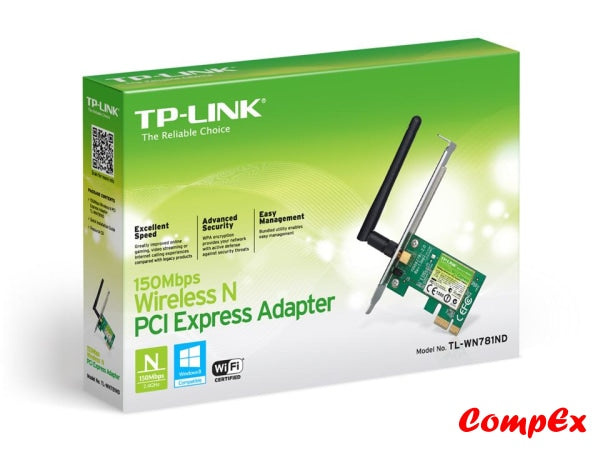 Tp-Link 150Mbps Wireless N Pci Express Adapter Tl-Wn781Nd Network Card