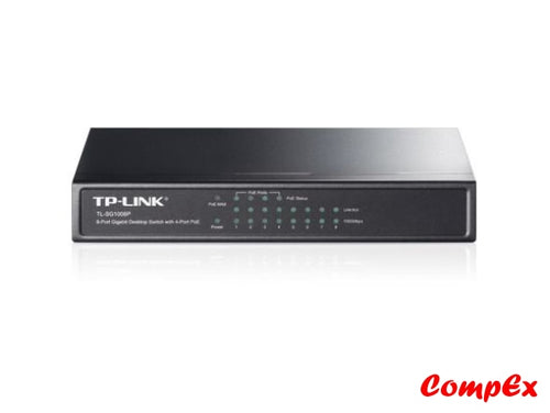 Tp-Link 8-Port Gigabit Desktop Switch With 4-Port Poe Tl-Sg1008P