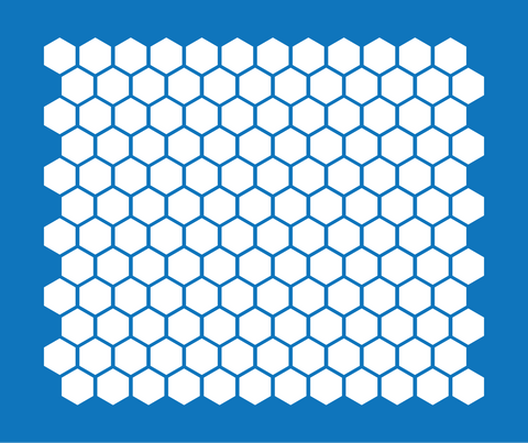 Hexagon Pattern Masking Stencil