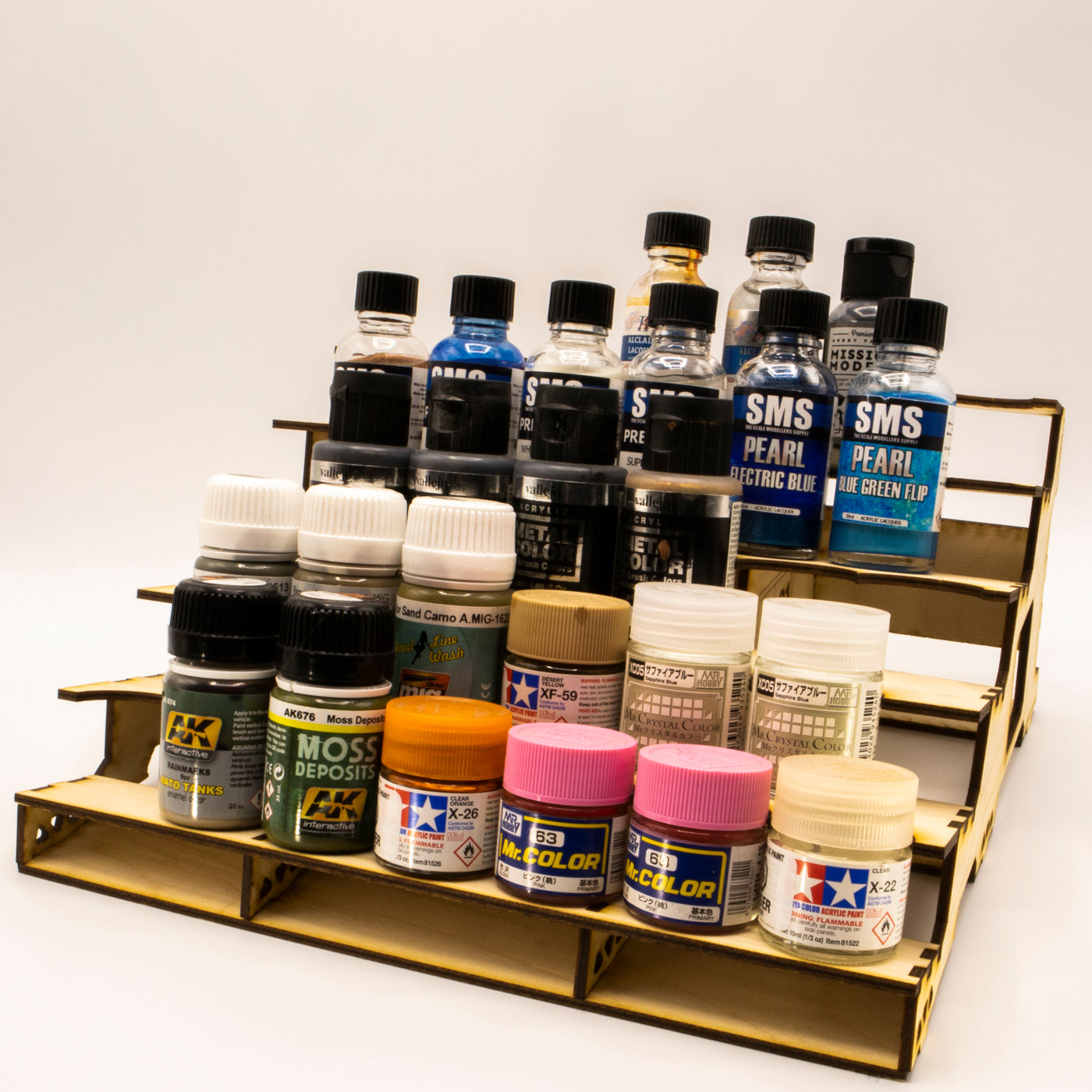 Jar & Large Bottle Paint Rack