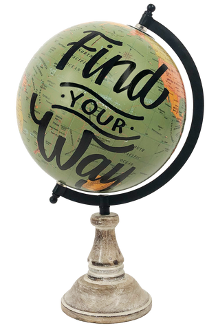 """Find Your Way"" Globe"