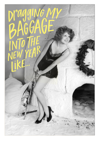 New Year New Baggage Postcard