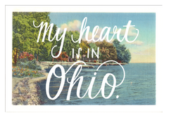 Ohio Heart Postcard