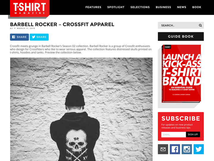 Barbell Rocker in T-Shirt Magazine