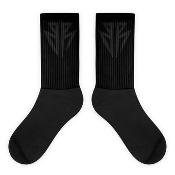 BR Black on Black socks