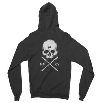 Barbell Rocker Crossfit Zip Hoodie S2 // LSBS Back Skull