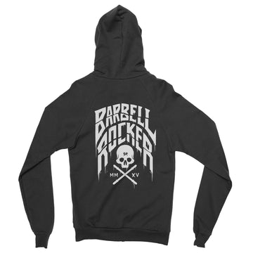 Barbell Rocker Crossfit Zip Hoodie S2 // LST Back Black