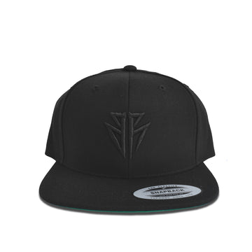 BR Black on Black Snapback Front