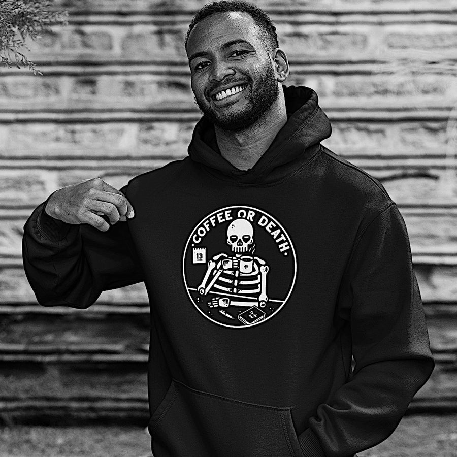 Coffee or death - Hoodie model