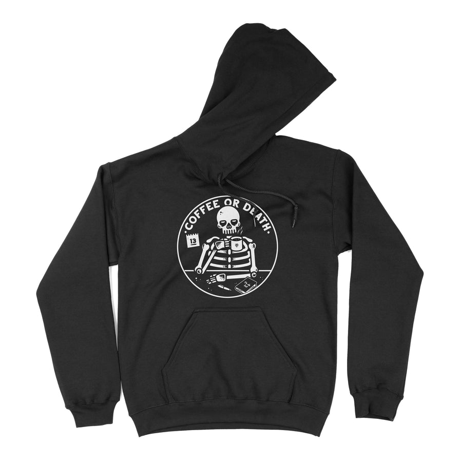 Coffee or death - Hoodie flat