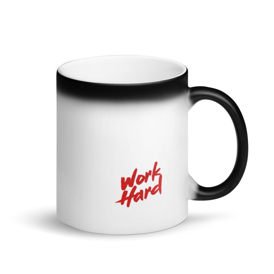 Work hard mug magic
