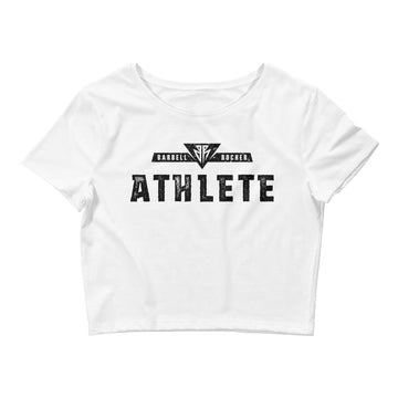 BR Athlete - Women's Crop Tee White