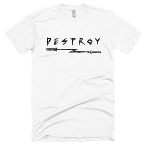 "BR ""Destroy"" T-Shirt White Front"