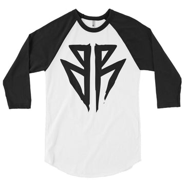 Barbell Rocker S3 // BR 3/4 sleeve raglan shirt black white