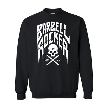 Barbell Rocker Typo n Skull Sweatshirt black