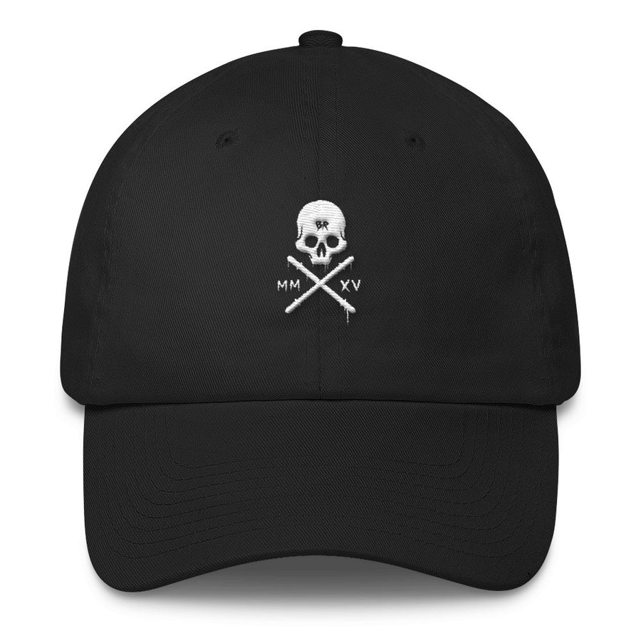 Barbell Rocker Skull Dad Cap
