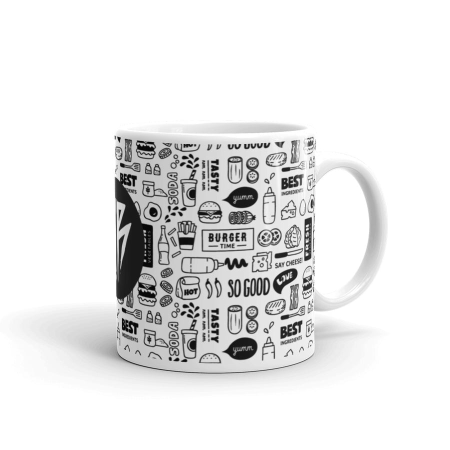Barbell Rocker Cheat Day Mug Detail