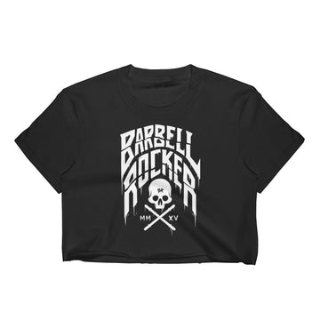 Barbell Rocker Typo - Women's Crop Top
