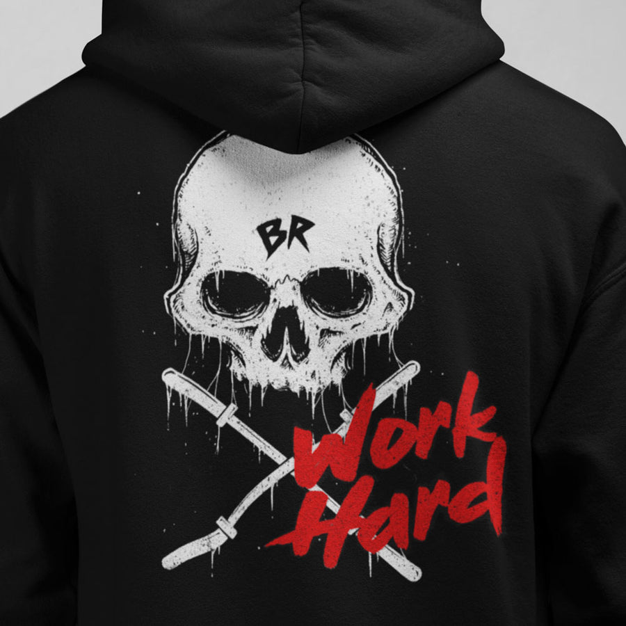 Work hard - Hooded Sweatshirt back