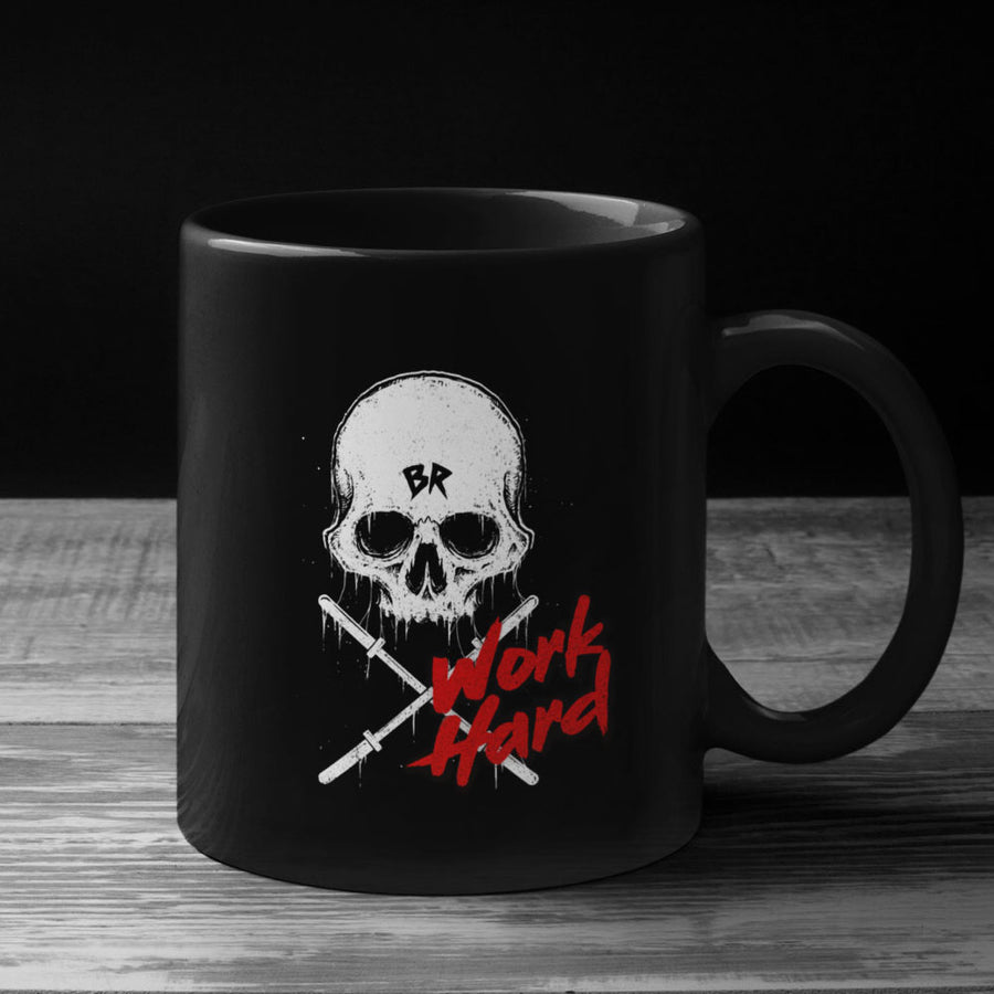 Work hard mug black