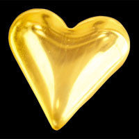 heart 22ct yello gold