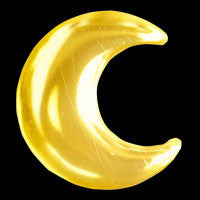 Moon 22ct yellow gold