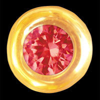 Round with ruby 22ct yellow gold