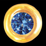Round with Sapphire 22ct yellow gold
