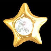 Star with cubic zirconia 22ct yellow gold