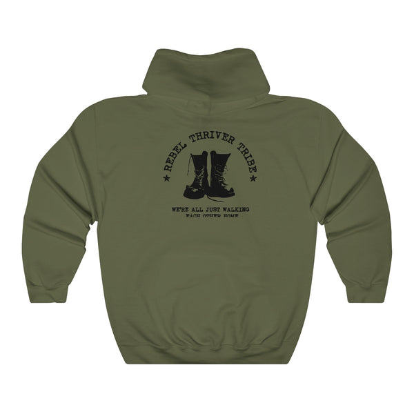 "Rebel Thriver ""Boots"" Hoodie (military Green)"