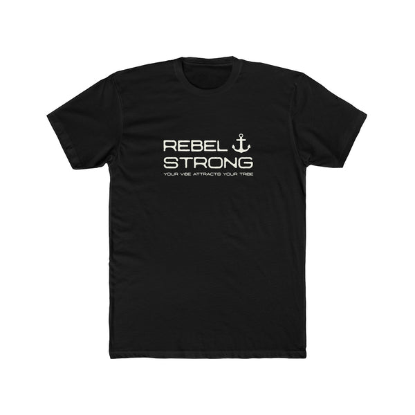 Rebel Strong Large Men's Cotton Crew Tee