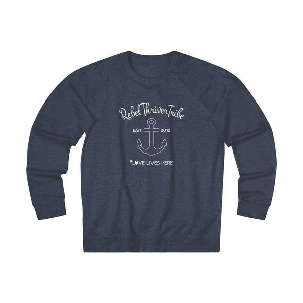 Unisex French Terry Crew (Denim Heather or Charcoal Heather)
