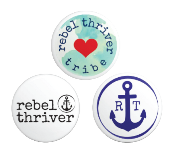 Rebel Thriver Button 3-pack ⚓