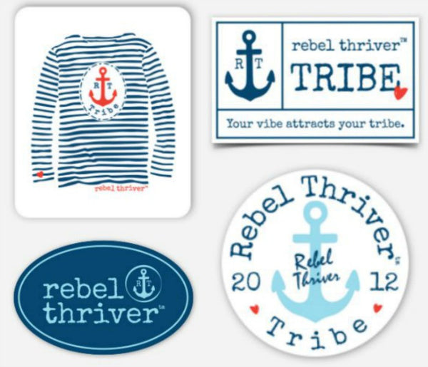 Rebel Thriver 4-Pack Sticker Set ⚓