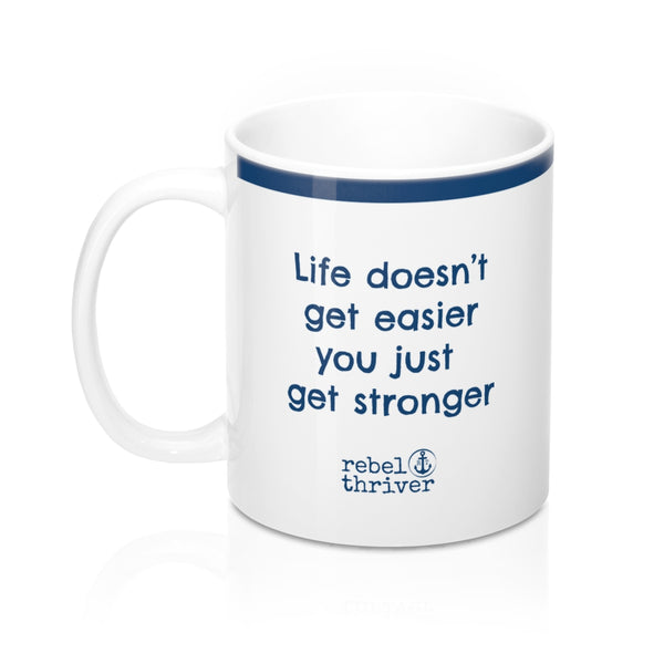 I Am Stronger Mug (Marine Blue) ⚓