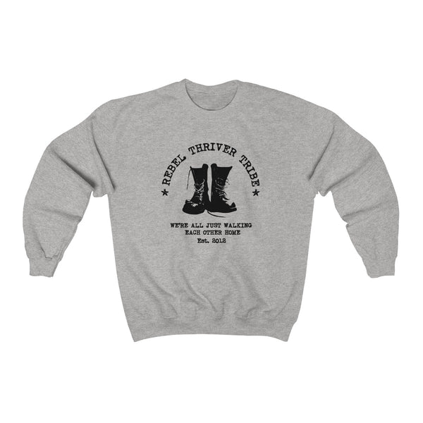 "Rebel Thriver ""Boots"" Crewneck Sweatshirt (Gray Heather)"