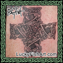 Celtic Animal Cross Tattoos