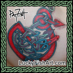 Celtic Snake & Eel Tattoos