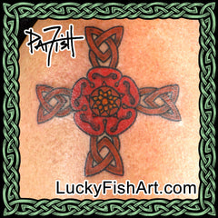 Celtic Floral Cross Tattoos