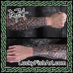 Celtic Forearm Sleeve Tattoos