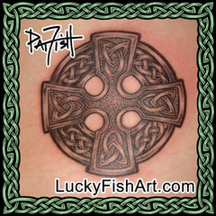 Celtic Wheel Cross Tattoos