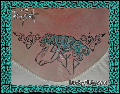 Icelandic Pony Celtic Viking Tattoo Design